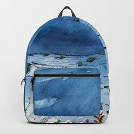 Stormy days at salad beach Backpack