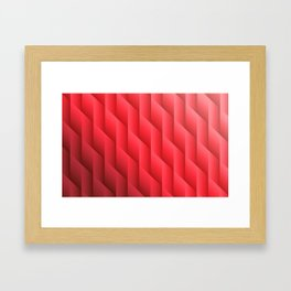 Gradient Red Diamonds Geometric Shapes Framed Art Print