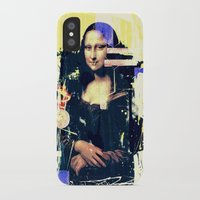 mona lisa iPhone & iPod Cases featuring mona lisa by manish mansinh
