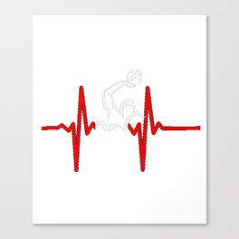 Water Polo Heartbeat Water Aquatic Water Game Gift Canvas Print