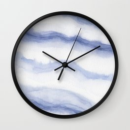 Periwinkle Waves Wall Clock