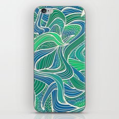 Abstract Wavy Leaves iPhone & iPod Skin