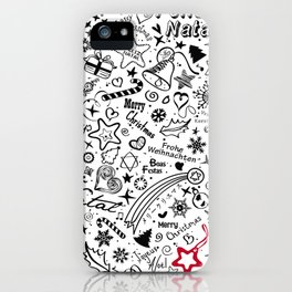 Merry Christmas Multiple languages iPhone Case