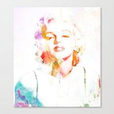 Marilyn Monroe Watercolor Pop Art33 Canvas Print