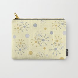 Grey and Yellow Geometric Circles Yellow Bkgrd Carry-All Pouch