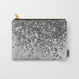 Soft Silver Gray Glitter #1 (Faux Glitter - Photography) #shiny #decor #art #society6 Carry-All Pouch