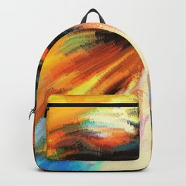 Watercolor Horse Rainbow Sunset (Color) Backpack