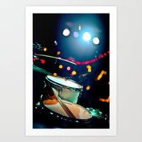 drums Art Prints featuring drums by petervirth photography