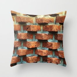 Bricks Throw Pillow