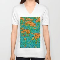weed V-neck T-shirts featuring Weed Patch by Anne Millbrooke