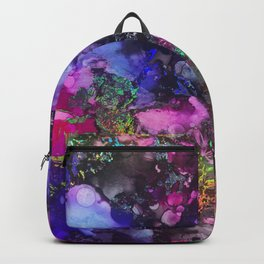 Unicorn Blood Alcohol Ink and Reactive Foil Backpack