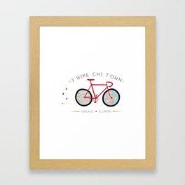 Chicago, Illinois by I Bike Framed Art Print