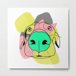 Retro Dog Metal Print