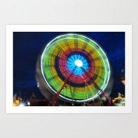 Spinning Wheel Art Print