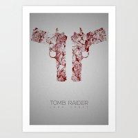 tomb raider Art Prints featuring Tomb Raider by Rizwanb