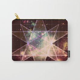 Galaxy Sacred Geometry : Stellated Icoshadron Warmth Carry-All Pouch