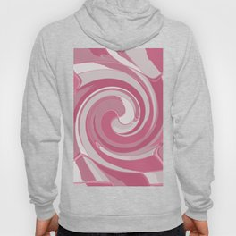 Spiral in Pink and White Hoody