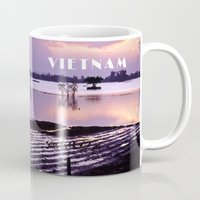 vietnam Mugs featuring MEKONGDELTA - VIETNAM  by CAPTAINSILVA