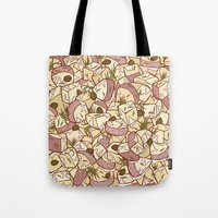 potato Tote Bags featuring Potato Salad by Raewyn Haughton
