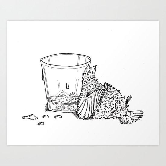 Thirsty Grouse Art Print