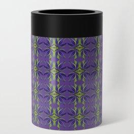 Marijuana Leaves Ultra Violet Pattern Can Cooler