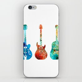 Abstract Guitars by Sharon Cummings iPhone Skin