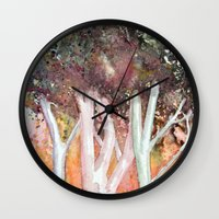 sparkles Wall Clocks featuring Sparkles by Julie Lemons
