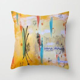 Jehova Shalom Throw Pillow