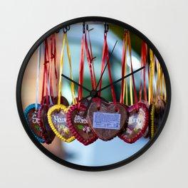 Gingerbreadhearts Wall Clock