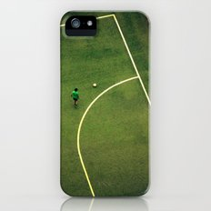 Kids are playing football on the green field iPhone (5, 5s) Slim Case