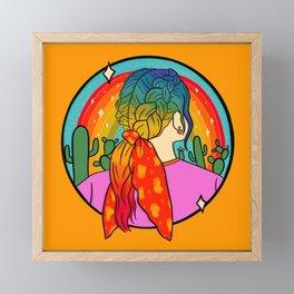 Rainbow Girl Framed Mini Art Print