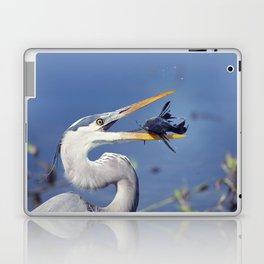Great Blue Heron with Sailfin Catfish Laptop & iPad Skin