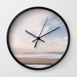 Beach with some North Sea Pastel Sky - The Netherlands Wall Clock