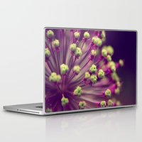 lime green Laptop & iPad Skins featuring Purple and Lime Green by Amelia Kay Photography