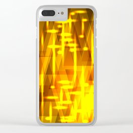 Luxurious golden triangles and metal stripes create abstraction and glow. Clear iPhone Case
