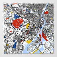 tokyo Canvas Prints featuring Tokyo by Mondrian Maps