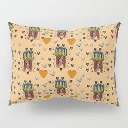 Sankta Lucia with love and candles in the silent night Pillow Sham
