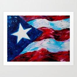 Flag of Puerto Rico - Borinquen Art Print