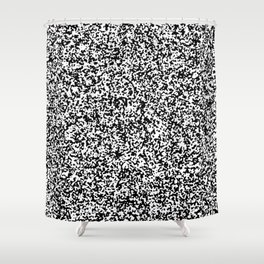 Tiny Spots - White and Black Shower Curtain