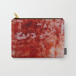 Crimson Stained - Red and pink textured abstract Carry-All Pouch