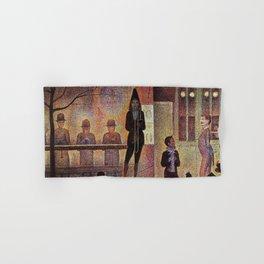 La parade du cirque by Georges Seurat Hand & Bath Towel