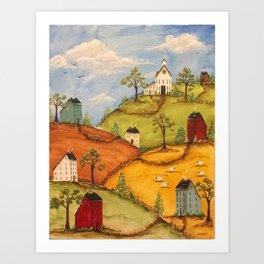 The 4 Hills Art Print
