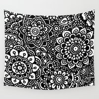 zentangle Wall Tapestries featuring Zentangle by Patricia Silveira
