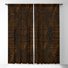 Coppery African Pyramid Blackout Curtain