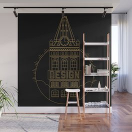 Oakland is Design (Black & Gold) Wall Mural