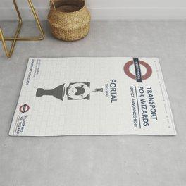 Wizard Toilet Portal Sign Rug