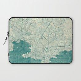 Montevideo Map Blue Vintage Laptop Sleeve