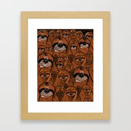 Mountains and mountains of sloths. Framed Art Print