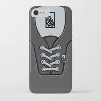 vans iPhone & iPod Cases featuring Black Gray Vans shoes iPhone 4 4s 5 5s 5c, ipod, ipad, pillow case and tshirt by Three Second