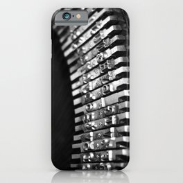 Vintage Typekeys-Black and White iPhone Case
